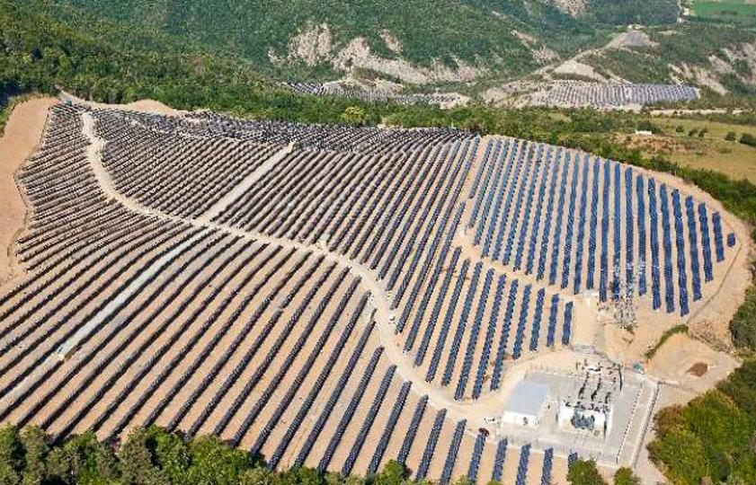 Planta fotovoltaica de Curbans en Francia