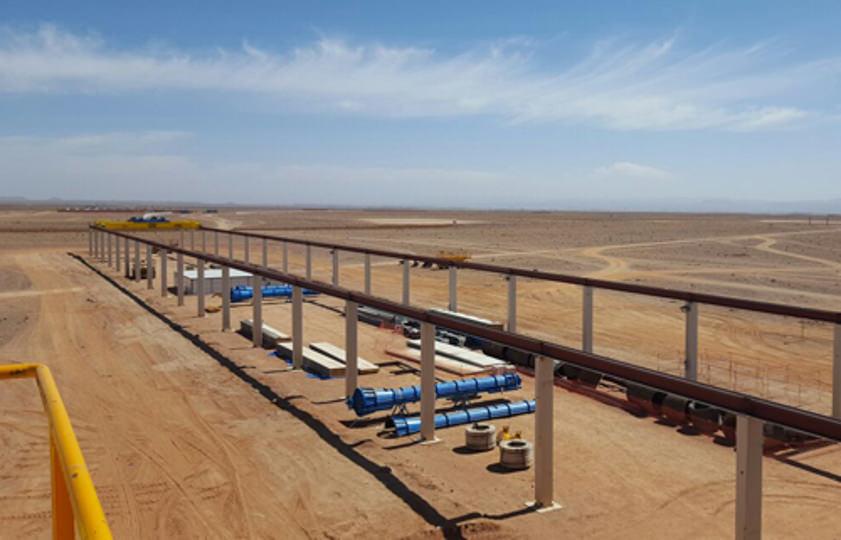 Nave en Ouarzazate pedestales CSP NOOR III